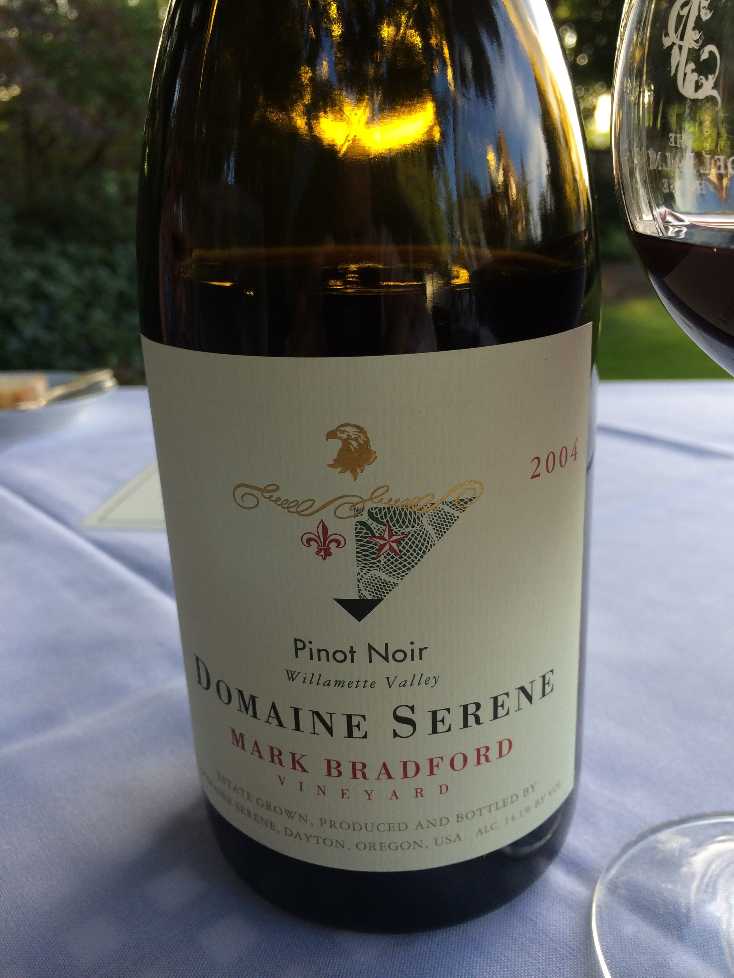 The Mark Bradford 2004 was drinking great at over 10 years.