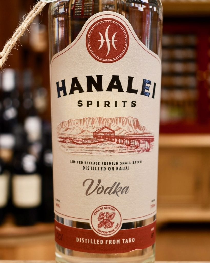The rare and limited taro vodka from Hanalei Spirits