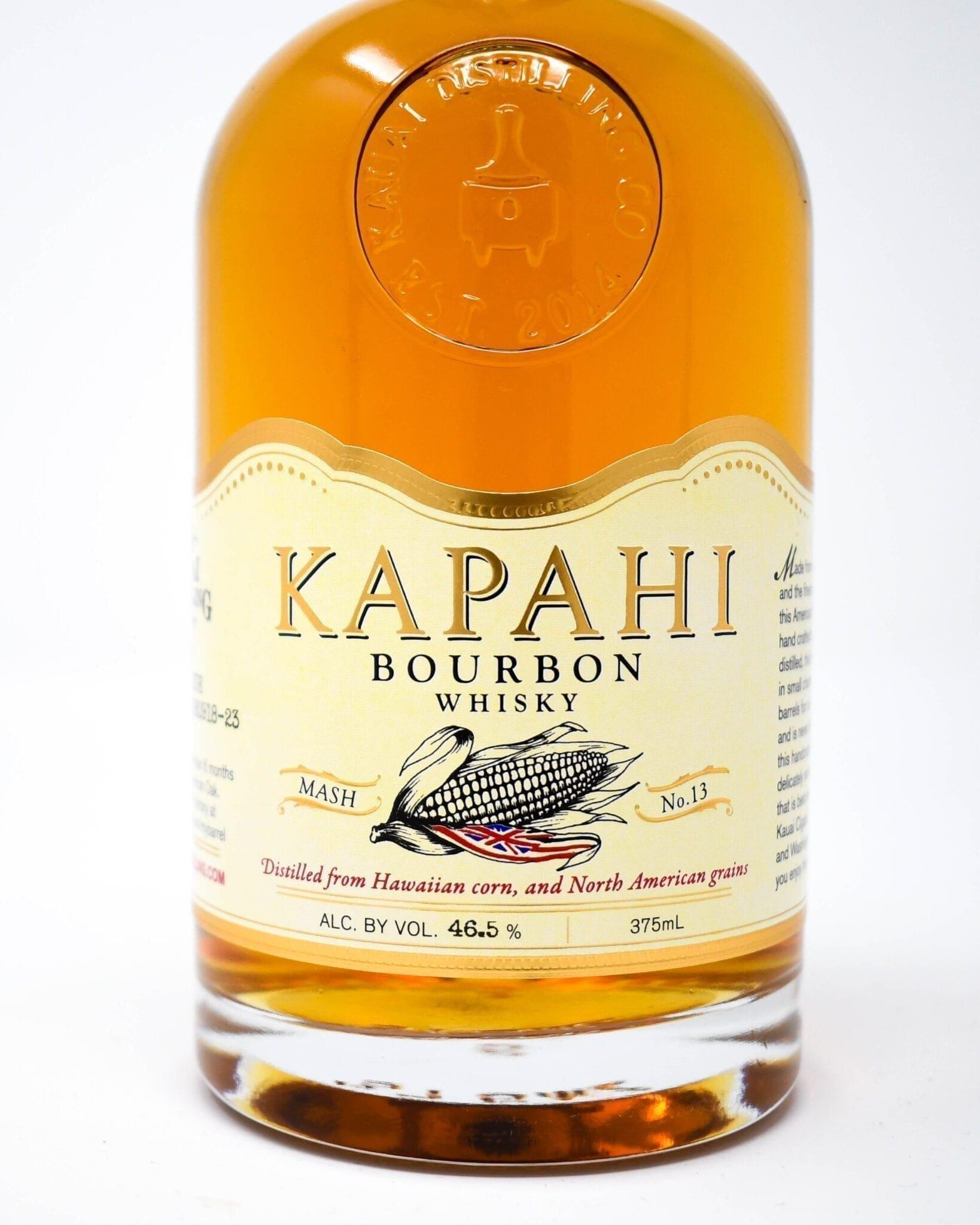 Kapahi Bourbon 375ml made with Kauai corn