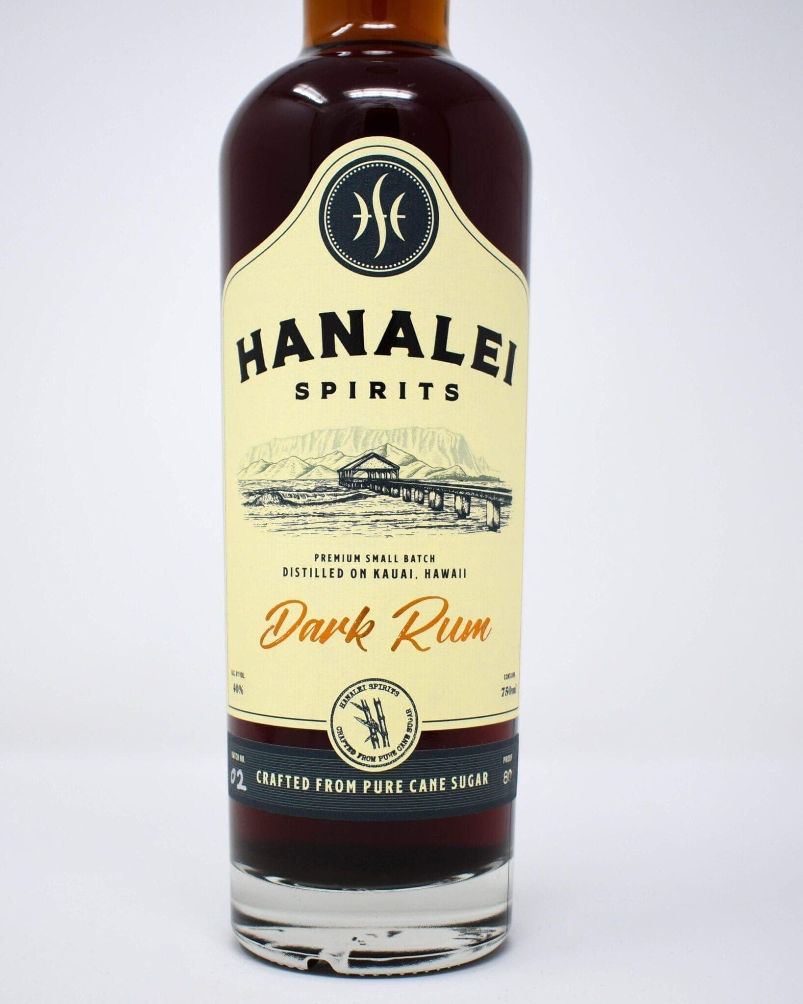 Hanalei Spirits Dark Rum 750ml