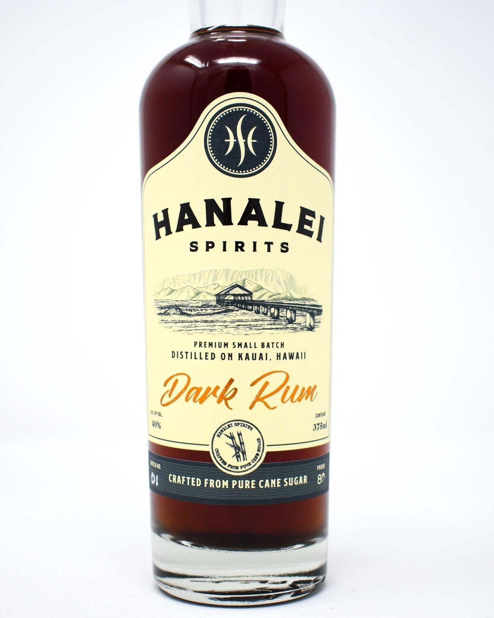 Hanalei Spirits Dark Rum 375ml