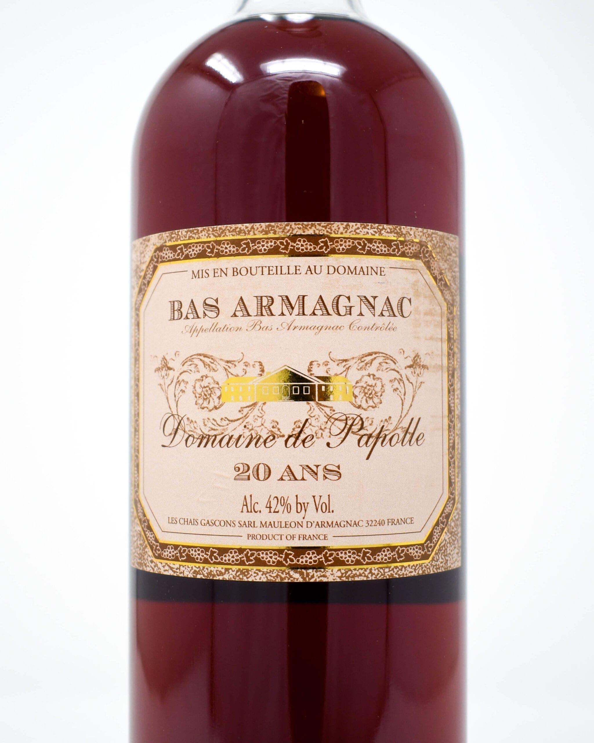 Domaine de Papolle, Bas Armagnac 20 Ans
