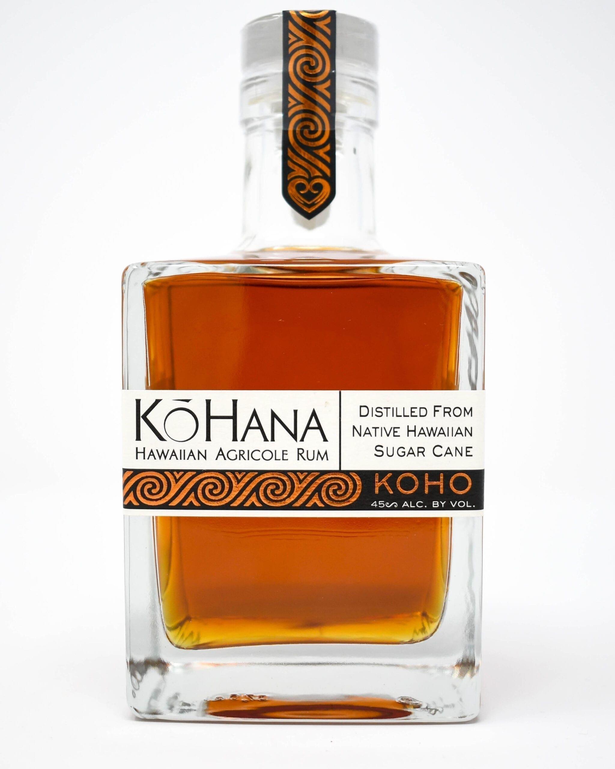 KoHana Dark Rum. Hawaiian Agricole Rum distilled from native Hawaiian sugar cane.