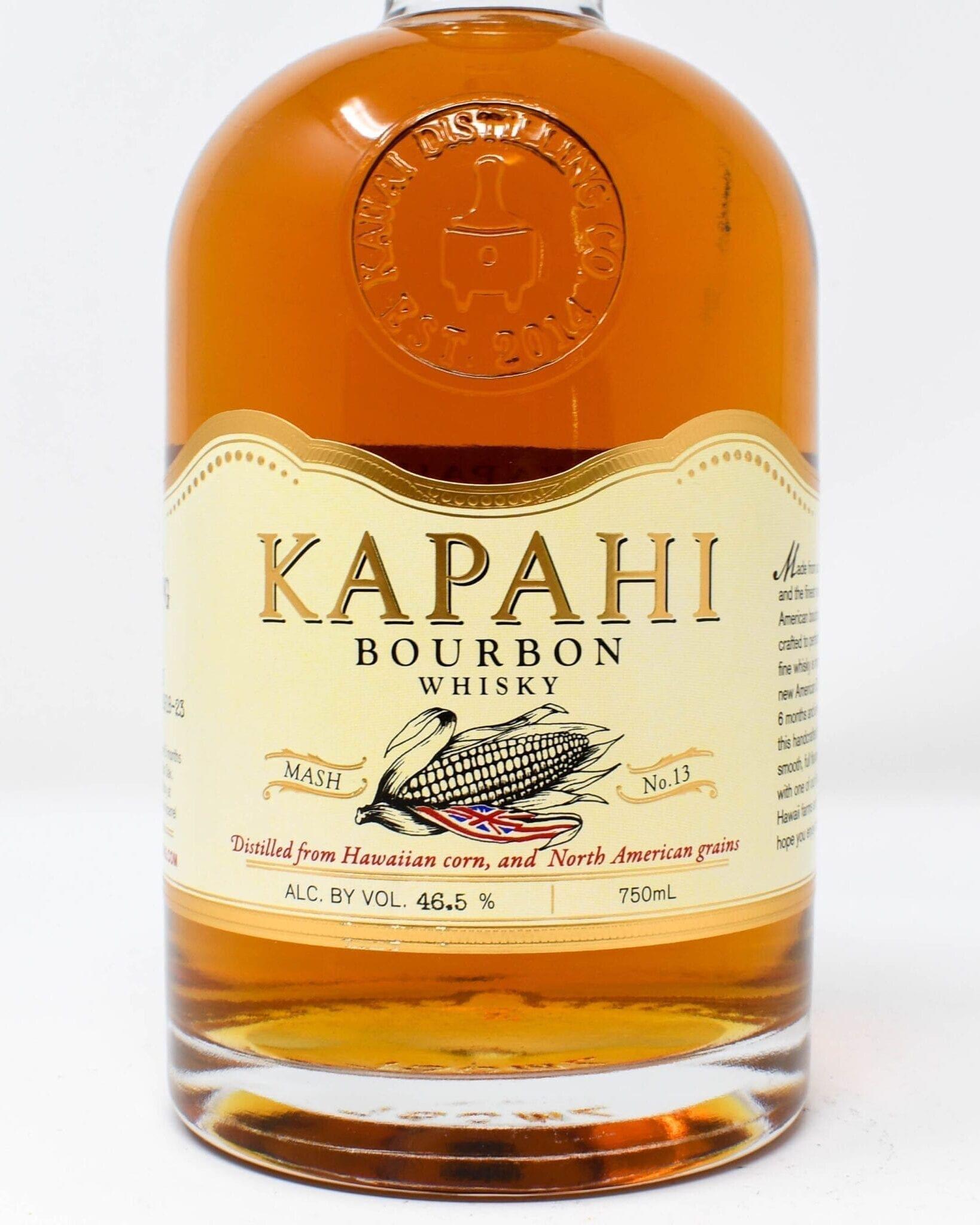 Kapahi Bourbon 750ml made with Kauai grown corn