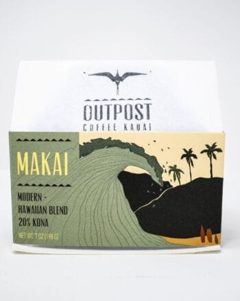 Outpost Cofee Kauai, Makai Modern Hawaiian Blend 20% Kona