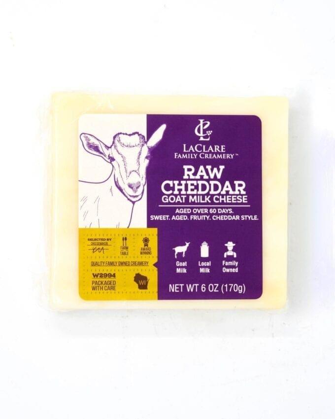 Laclare Raw Goat Cheddar