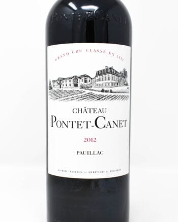 Pontet-Canet Bordeaux 2012