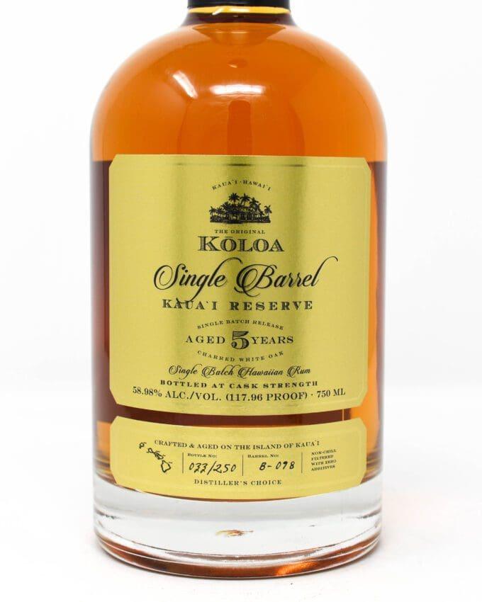 Koloa Rum Single Barrel 5 year