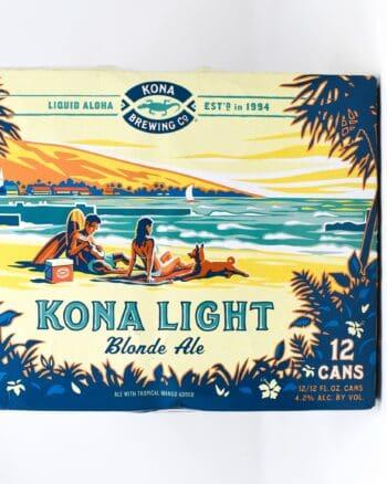 Kona Light Blonde Ale 12 pack cans